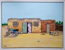 Gemälde: kleines Haus