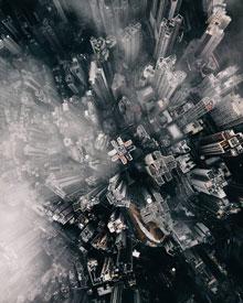 Foto: Stadt aus der Luftperspektive