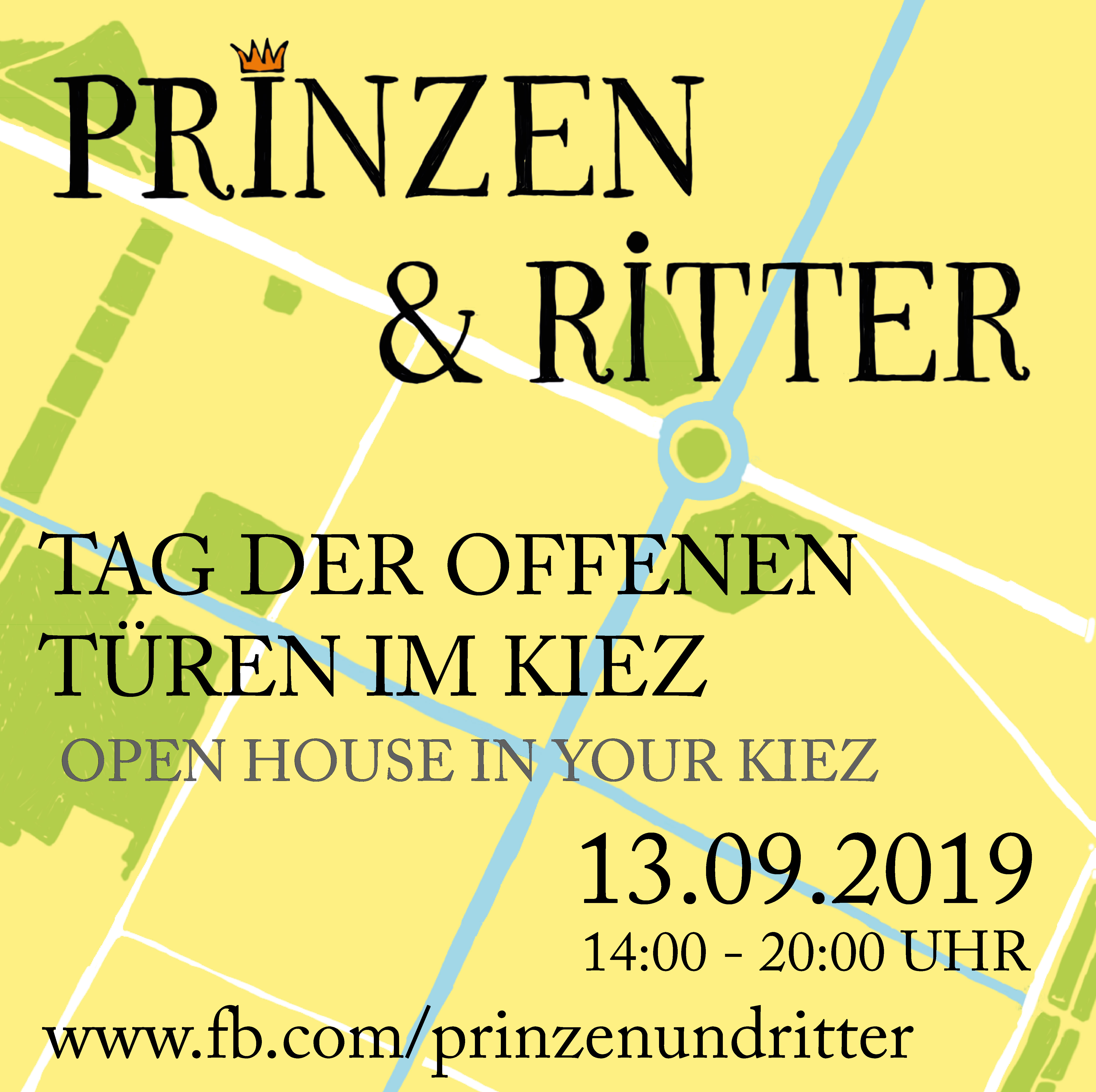 Plakat: Prinzen und Ritter Tag der offenen Türen im Kiez