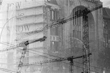Foto Doppelbelichtung Bausstelle